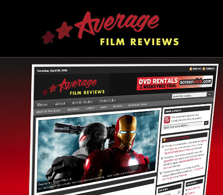 Logo for Average Film Reviews website
